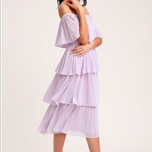 Lulus Off-the-Shoulder Ruffle Midi Dress